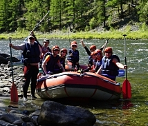 Teletskoye lake - Katun river - rafting