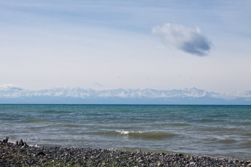 the southern shore of  Lake Issyk-kul
