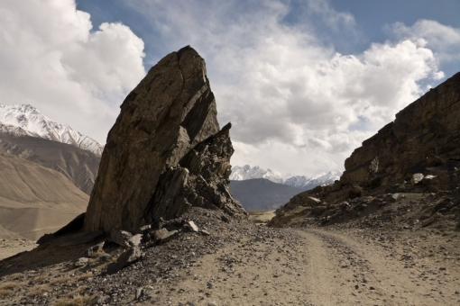mountain road along the Afghan border, Tajikistan