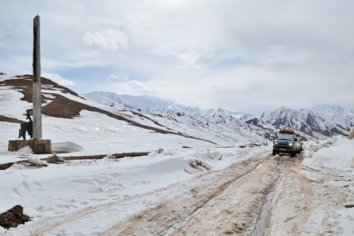 the Kyzyl-Art Pass (4200m). Kyrgyzstan-Tajikistan border