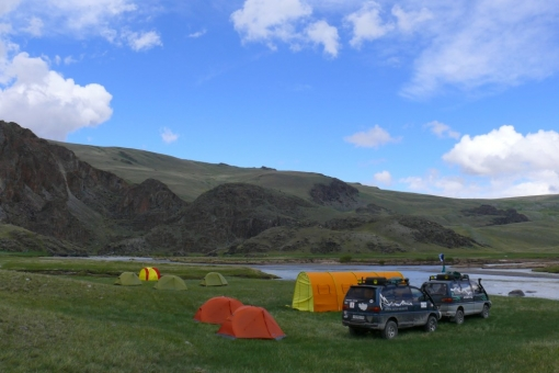 Altai mountains - expedition base camp